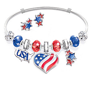 Holiday Charm Bracelet Collection With Collector's Box