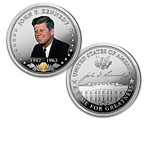 John F. Kennedy Commemorative Proof Coins With Display