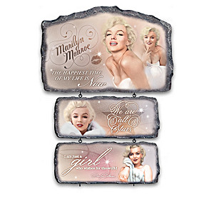 """""""In Her Own Words"""" Marilyn Monroe Wall Decor Collection"""