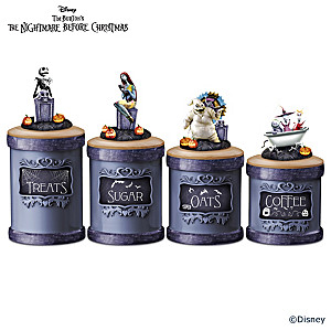 The Nightmare Before Christmas Kitchen Canisters With Labels