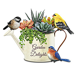 Songbird Planter Collection With Always In Bloom Succulents