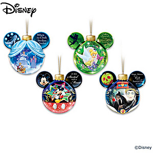 Disney Holiday Delights Illuminated Ornament Collection