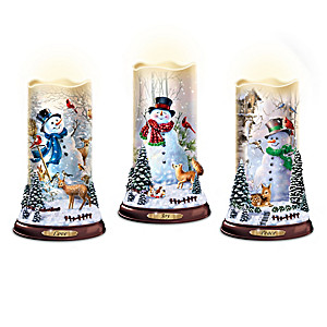 Dona Gelsinger Flurries Of Light Flameless Candle Collection