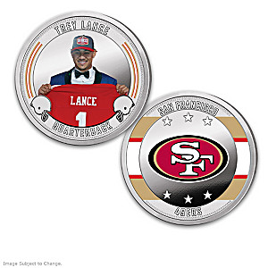 San Francisco 49ers Proof Coin Collection With Display