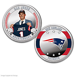 New England Patriots Proof Coin Collection With Display
