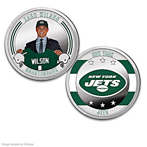 New York Jets Proof Coin Collection With Display