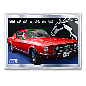 Classic Ford Mustang Metal Art Print Wall Decor Collection