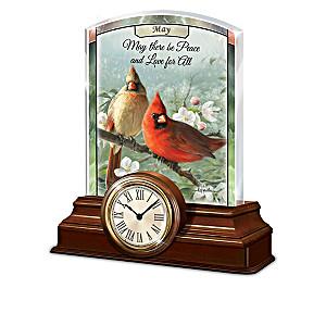 """Radiant Songbirds"" Illuminated Clock Calendar Collection"