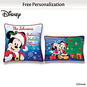 Disney Personalized Two-Sided Seasonal Pillow Collection