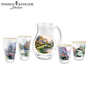 Thomas Kinkade Cottage Charm Drinkware Collection