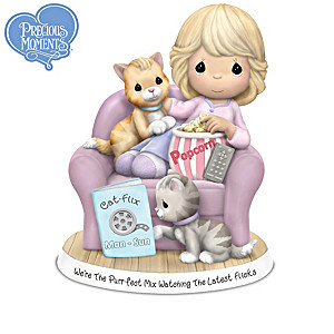 """Precious Moments """"Life Is Purr-fect With You"""" Figurines"""
