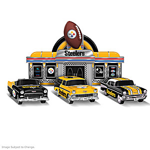 Steelers Bel Air Sculpture Collection With Diner Display