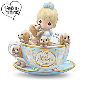 Precious Moments Tea-lightfully Precious Figurine Collection