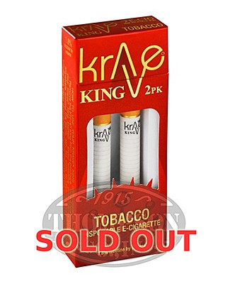Krave King Classic Tobacco Disposable Electronic Cigarette 2 Pack