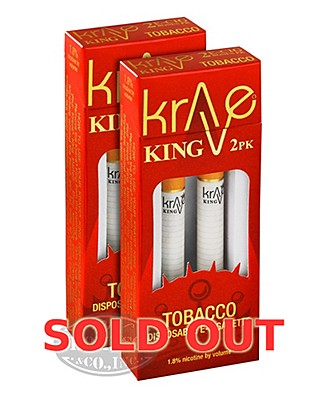 Krave King Classic Tobacco Disposable Electronic Cigarette 2 Pack 2-Fer