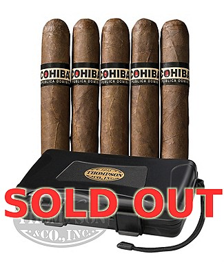 Cohiba 5 Pack With Case Combo Cameroon Lonsdale Grande