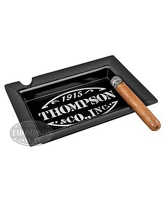 Black Thompson Cigar Ashtray