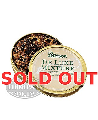 Peterson Pipe Tobacco Deluxe Mixture Can Assorted