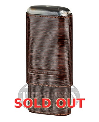 Andre Garcia 3 Finger Brown Leather Horn Top Case