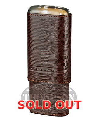 Andre Garcia 3 Finger Brown Leather Lizard Horn Top Case