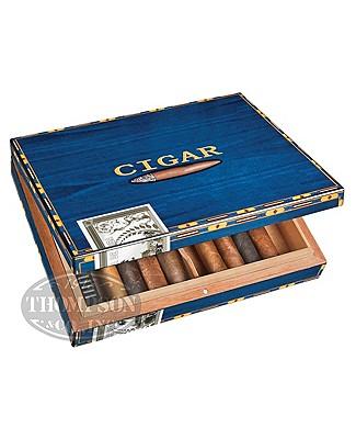Cigar Box Blue 12 Count Humidor