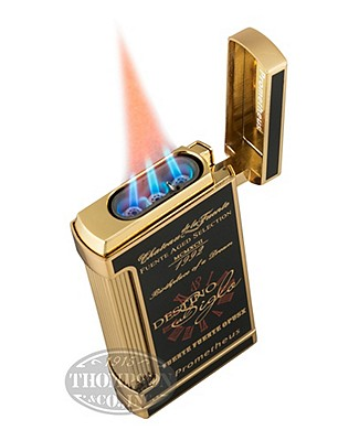 Fuente Fuente Opus X 20th Anniversary Black Lacquer And Gold Lighter