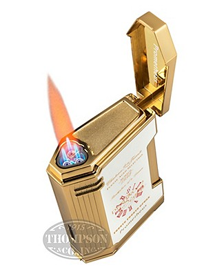 Fuente Fuente Opus X 20th Anniversary Magma White Lacquer And Gold Lighter