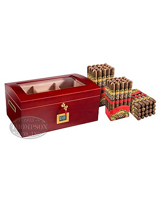 Barrel Humidor And Accessories Natural Corona Combo Plus Thompson Red