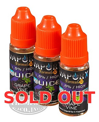 Vapor X Juice Grape Vine 1.8% 3 Pack