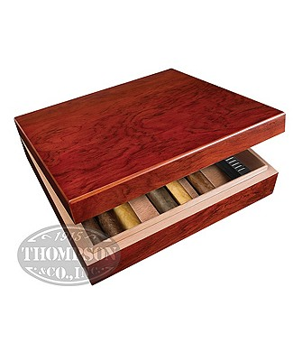 Cherrywood 20 Count Humidor With Pencil