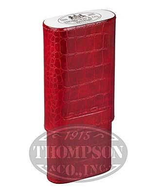 Thompson Cigar 100th Anniversary Red Crocodile Case By Andre Garcia