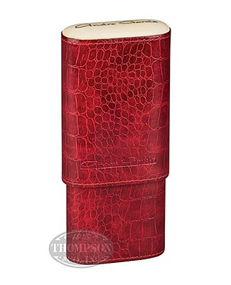 Andre Garcia 3 Finger Red Crocodile Leather Case