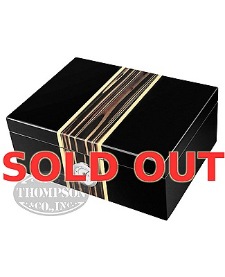 Two Tone Black 50 Count Humidor