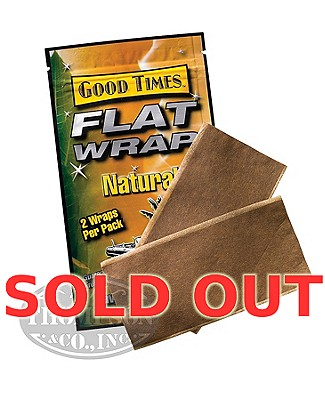 Good Times Flat Wraps Natural Leaf Natural