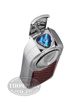 Kevlar Triple Flame Chrome Lighter