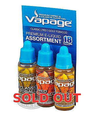 Vapage E-Liquid Tobacco 18mg 3pk Assortm
