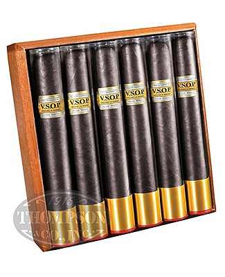VSOP Cognac And Whiskey Tubes Maduro Toro Gordo Assorted