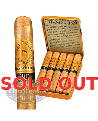 Perdomo Reserve 10th Anniversary Champagne Puritos Connecticut Petite Corona Single Tin
