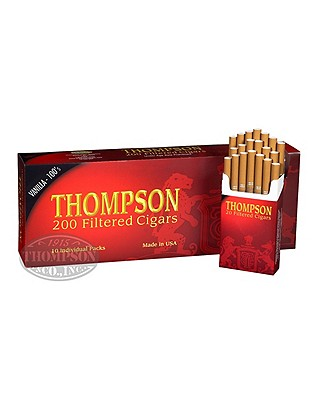 Thompson Filtered Cigars Hard Pack 6-Fer Natural Filtered Vanilla