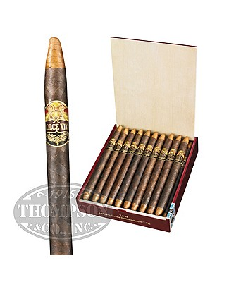 Dolce Vita Cafe Edition Connecticut Tipped Maduro Lancero Coffee Dark