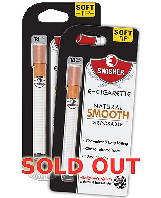 E-Swisher Natural Smooth Disposable E-Cigarette 2-Fer