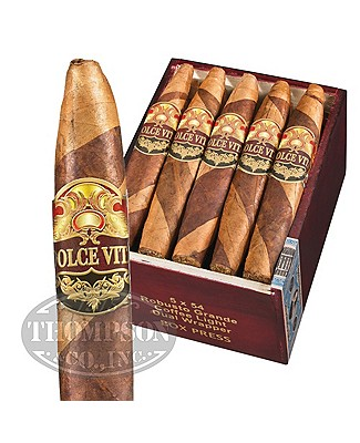 Dolce Vita Cafe Edition Boxed Press Dual Wrapper Robusto Grande Coffee Light Barber Pole