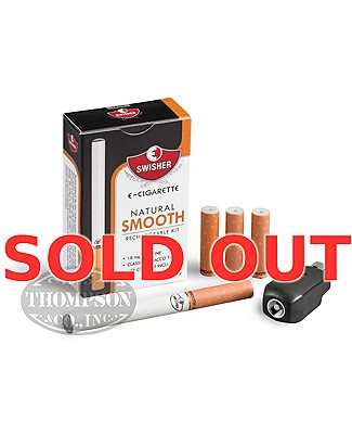 Swisher E-Cigarette Natural Smooth 18mg Rechargeable Kit Plus Atomizer 3 Pack