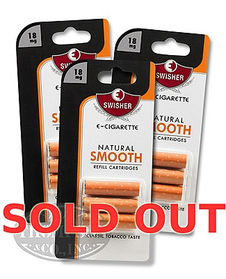 Swisher E-Cigarette Natural Smooth 18mg Refill 3 Cartridge 3-Fer