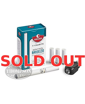 Swisher E-Cigarette Menthol Breeze 18mg Rechargeable Kit Plus Atomizer 3 Pack