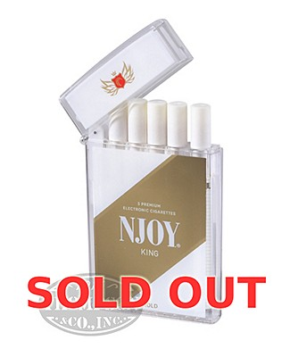 NJOY King Traditional Gold 3.0% Ecigarette 5 Pack