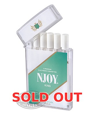 NJOY King Menthol Gold 3.0% Ecigarette 5 Pack