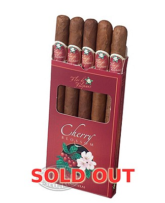 Flor De Filipinas Mini Cigarillo Java Slim Panetela Cherry