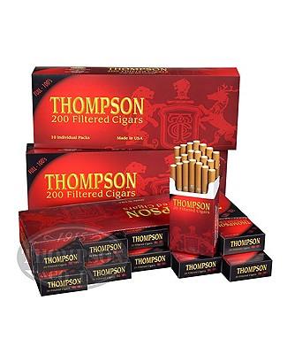 Thompson Filtered Cigars Hard Pack 3-Fer Natural Filtered Full