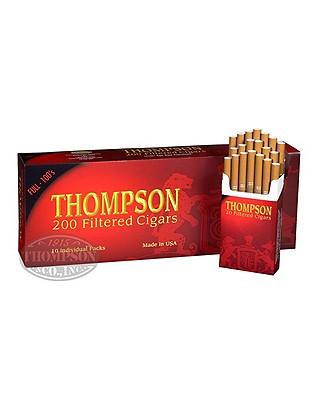 Thompson Filtered Cigars Hardb Pack 6-Fer Natural Filtered Full